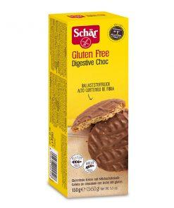 ביסקוויט מצופה בשוקולד חלב digestive choc ללא גלוטן | Schar