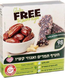 חטיף תמרים ואגוזי קשיו ללא גלוטן | FREE