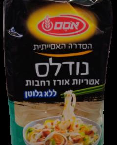 נודלס ללא גלוטן – אטריות אורז רחבות | אסם
