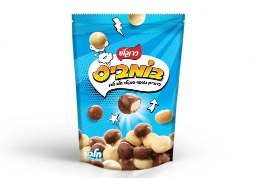 בומביס קליק מעורב שוקולד חלב ולבן ללא גלוטן   פרנקלס