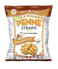 חטיף פריך מעדשים ושעועית בטעם צ'ורוס ללא גלוטן  170 גרם | Penne Straws